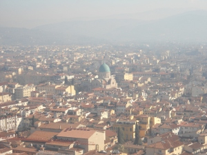 View from atop the Duomo