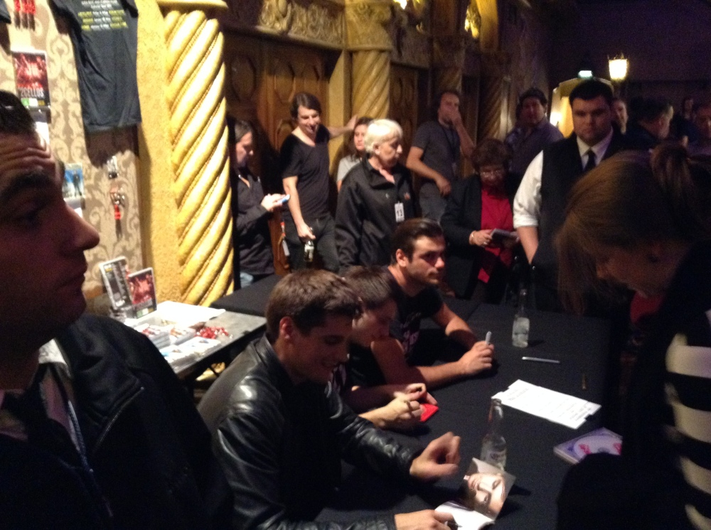 Post show signing for lucky Melbourne fans - Photograph by Lillian Altman