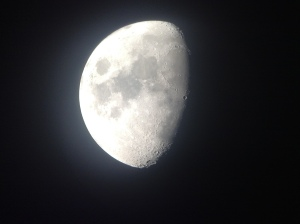 The moon - up close